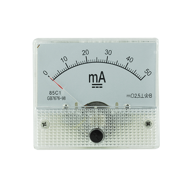 Superbat 85C1 DC 0 50mA Current Analog Panel Meter Ampere Meter ...