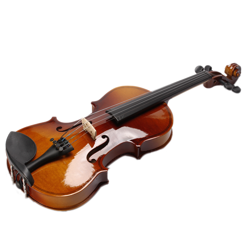 2016 Hight quality Yilin violin 4/4 1/4 3/4 1/2 1/8 Entry-level violin with case,rosin,bow,bridge for learners free shipping 4 4 size 430c pernambuco cello bow high quality ebony frog with shield pattern white hair violin parts accessories