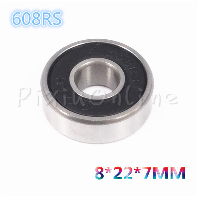 2PCS ST022b Bearing 608RS 608Z 8*22*7mm Deep Groove ball Miniature small ball bearings Steel Sell At A Loss zokol bearing 608 2rs z1 miniature deep groove ball bearing 8 22 7mm