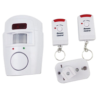 Home Security PIR MP Alert Infrared Sensor Anti-theft Motion Detector Monitor Wireless Alarm System with 2 Remote Controllers