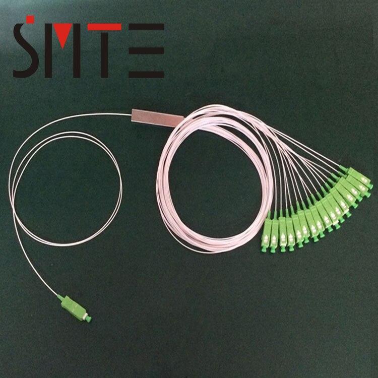 10 шт./лот мини Splitter 1x16 SM SC APC plc волокно Splitter Пигтейл-оптический разветвитель 1 до 16 1310nm 1550nm 0.3 м 9 мм волокна косичку