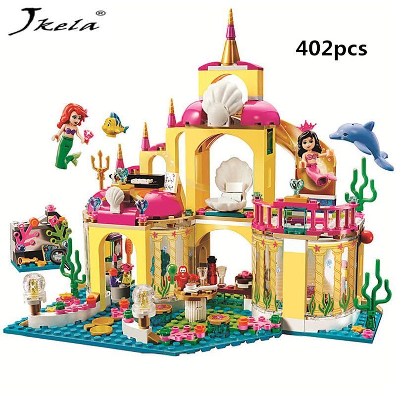 [New] 1 Princess Undersea Palace Girl Friends Building Blocks 402pcs Bricks Toy For Children Compatible With Legoingly Friends 2016 new bela building blocks toy set princess jasmine s exotic palace 41061 girl lepine bricks toys compatible with friends