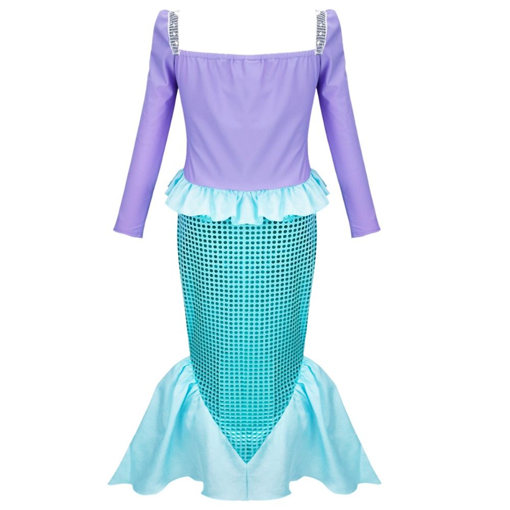 TiaoBug Children Little Mermaid Fancy Party Dresses Kids Princess ...