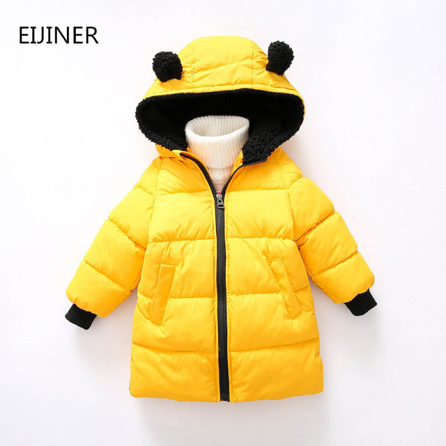 Flash Sale Kids Winter Jacket 2018 New Hooded Cotton Children Snow Jacket Boy Windbreaker Outerwear Girls Parkas Coats Boys Girls Coats