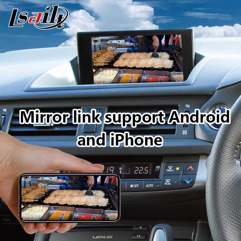 Android 7 1 Multimedia Video Interface for Lexus CT 200h Knob Control  2016-2019 year , GPS Navigation for CT200h