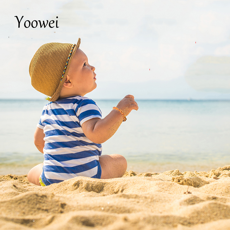 Yoowei Natural Âmbar Dentição Pulseiras Tornozeleiras 4.7 -- 8.7 ''Original de Jóias Artesanais Contas de Âmbar Do Báltico para o Bebê Adulto Atacado