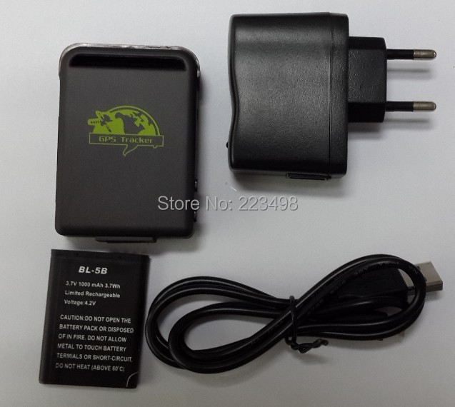 New Arrival GPS Tracker TK102B wall charger USB line font b battery b font Free Shipping