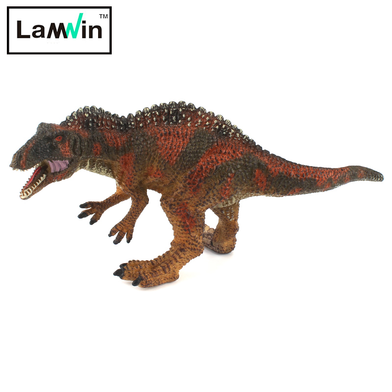 Lamwin Small Size Simulation Acrocanthosaurus Model Dinosaur Toy Jurassic World Park Collection Action Figure rgb led light bulb b22 4w dimmable color changing with ir remote controller spotlight lamp bulb home decor lighting ac85 265v