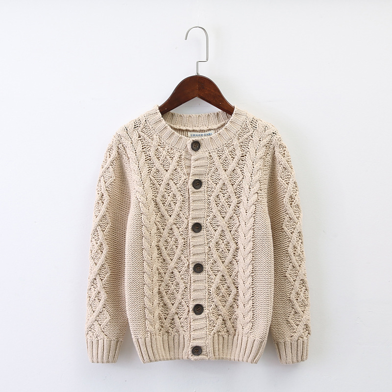 Brand Baby Children Clothing Boys Girls Thick Knitted Cardigan Sweater Kids Autumn Winter Cotton Outer wear B294