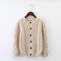 Marke Baby Kinder Kleidung Jungen Mädchen Dicke Strickjacke Pullover Kinder Herbst Winter Baumwolle oberbekleidung B294