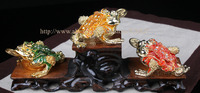 Estatueta de metal Caixa Do Trinket Sapo Anel Titular Caso Caixa de Armazenamento da Jóia Do Casamento Brinco Stands Sapo Fengshui Presente Lembranças de Artesanato