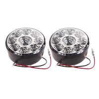 2Pcs 12 24V 9 LED Car Daytime Running Light Automobiles Fog DRL Light Head Lamp Super