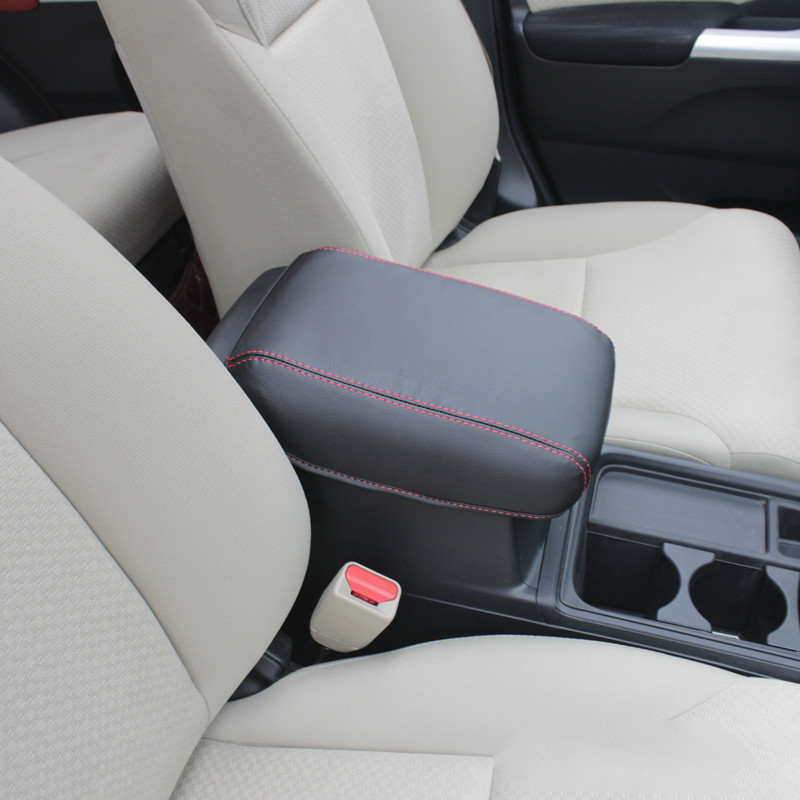Super fiber Leather Car Armrest Cover Pad Console Arm Rest Pad Accessories For 2012 13 14 15 16 Honda CRV CR-V