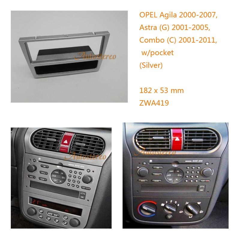 Adapter// Plate Vauxhall Agila Corsa Meriva Double Din Fascia Facia Panel