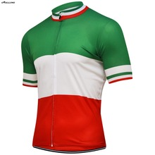 188d0aae64b Classical 2018 ITALIA National Flag Team Maillot Cycling Jersey Customized  Orolling