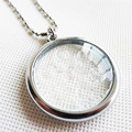 2PCS/LOT Bio Disc Pendant with Negative Ions Stainless Steel Chain Necklace Charms Quantum Scalar Energy Free Shipping