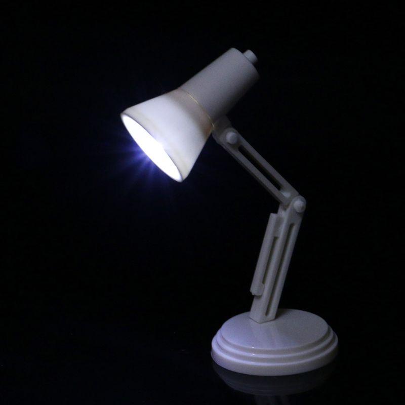 New 1:12 Furniture Toy Dolls Pretend Play Dollhouse Miniature Lamp LED Light