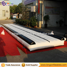 black color 30 ft long jumping gym mats,Inflatable Gymnastics mats,air gym track BG-Y0001-2 toy sports