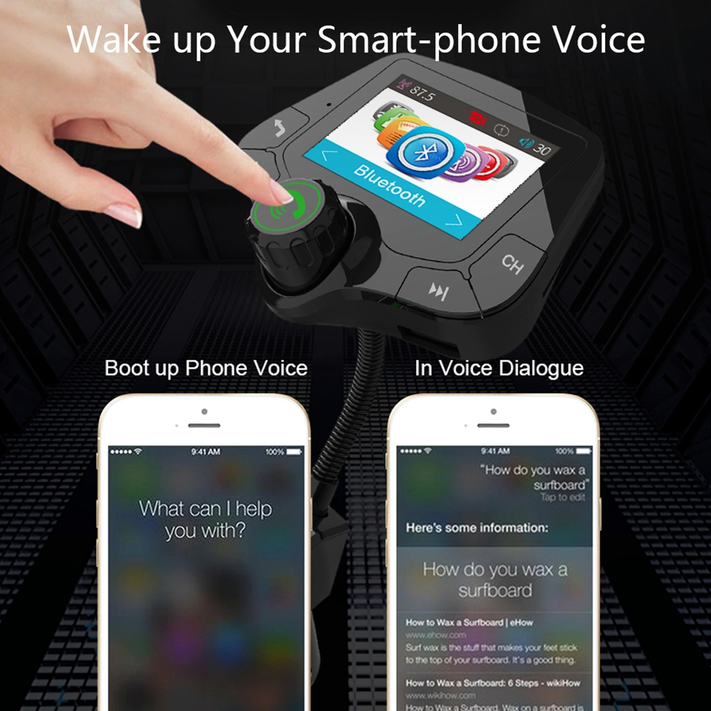Image 5 - G24 HD Color Screen Wireless Car Kit Bluetooth MP3 Player Hands free Calling FM Transmitter Car Kit support QC 3.0 Fast charger-in FM Transmitters from Automobiles & Motorcycles