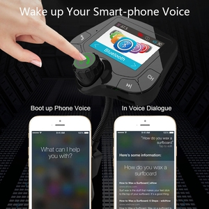 Image 5 - G24 HD Color Screen Wireless Car Kit Bluetooth MP3 Player Hands free Calling FM Transmitter Car Kit support QC 3.0 Fast charger
