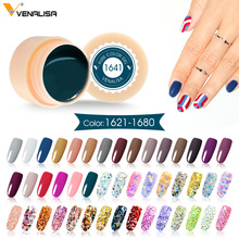 VENALISA Starry Schilderen Gel 180 Kleuren 5 ml CANNI Pure Kleur Vernis Nail Art Salon Soak Off UV LED Nail art Design Drawing Gel(China)