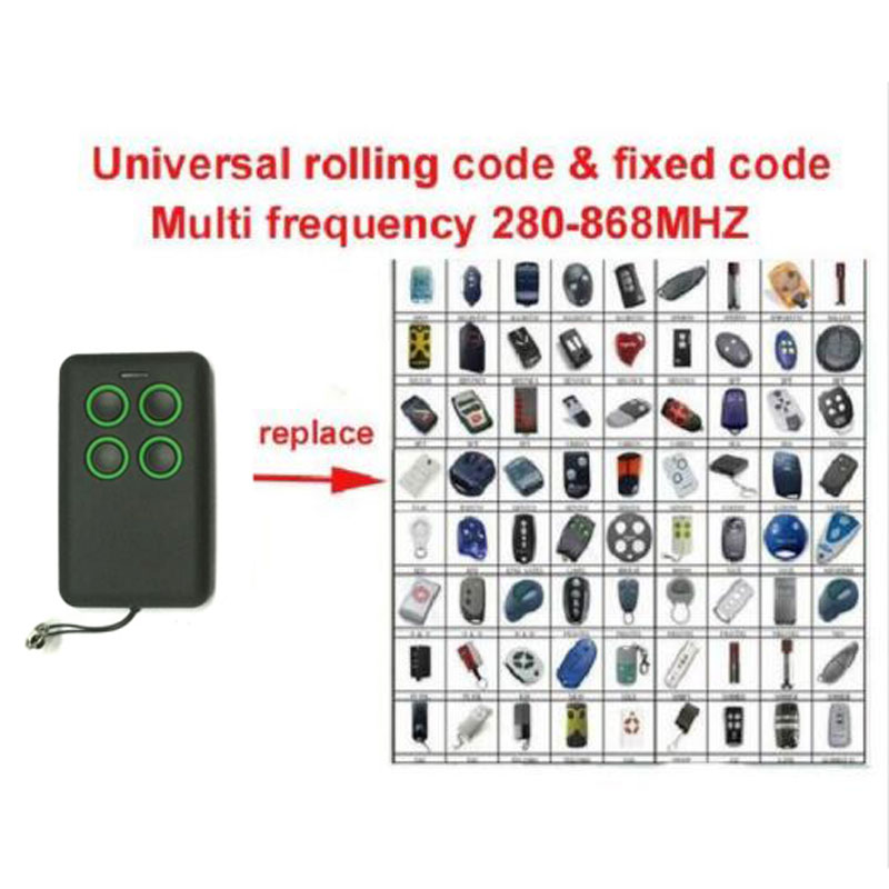 Universal remote cloning rolling code BFT FAAC DOORHAN NICE beninca Liftmaster 94335E novoferm compatible remote free shipping 2013 new version nice transmitter nice remote control smilo 2 smilo 4 nice replacement remote
