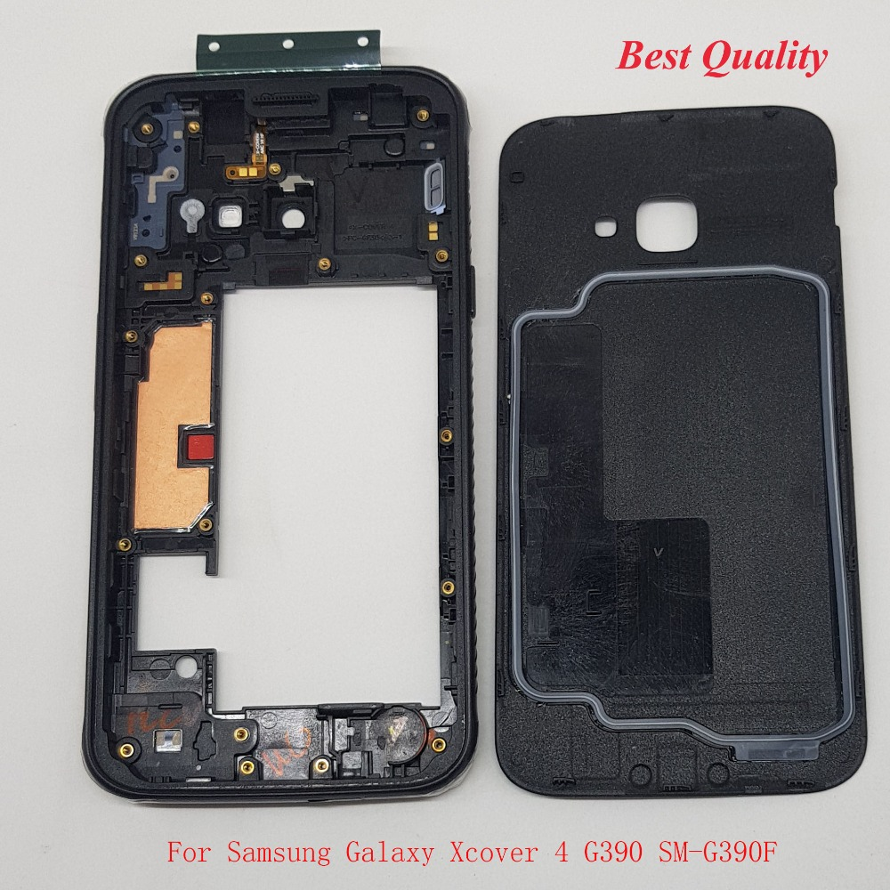 New Replacement For Samsung Galaxy Xcover 4 G390 SM-G390F Front Housing Middle Frame Plate+Battery Cover Waterproof Ring