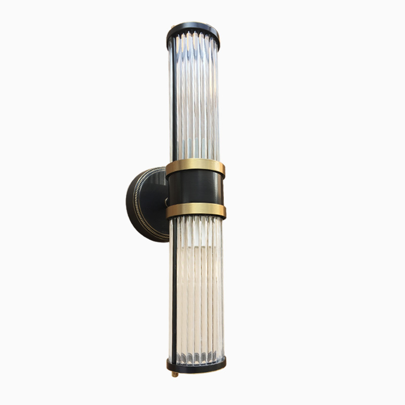 Wall Lamps Up and Down Glass Shade Bathroom Lights Copper bathroom wall lamps indoor modern Gold Fitting wall sconces 110-240V ...