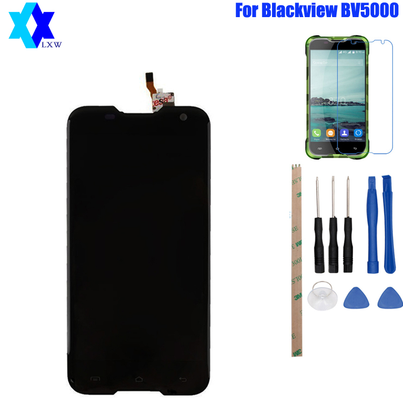 For Original Blackview BV5000 LCD Display+Touch Screen Panel Digital Replacement Parts Assembly 5.0 inch 1280X720P Free Shipping