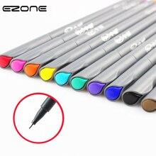EZONE 10PCS/Set Color Gel Pen Felt Tip Fine Hook Marker Pen
