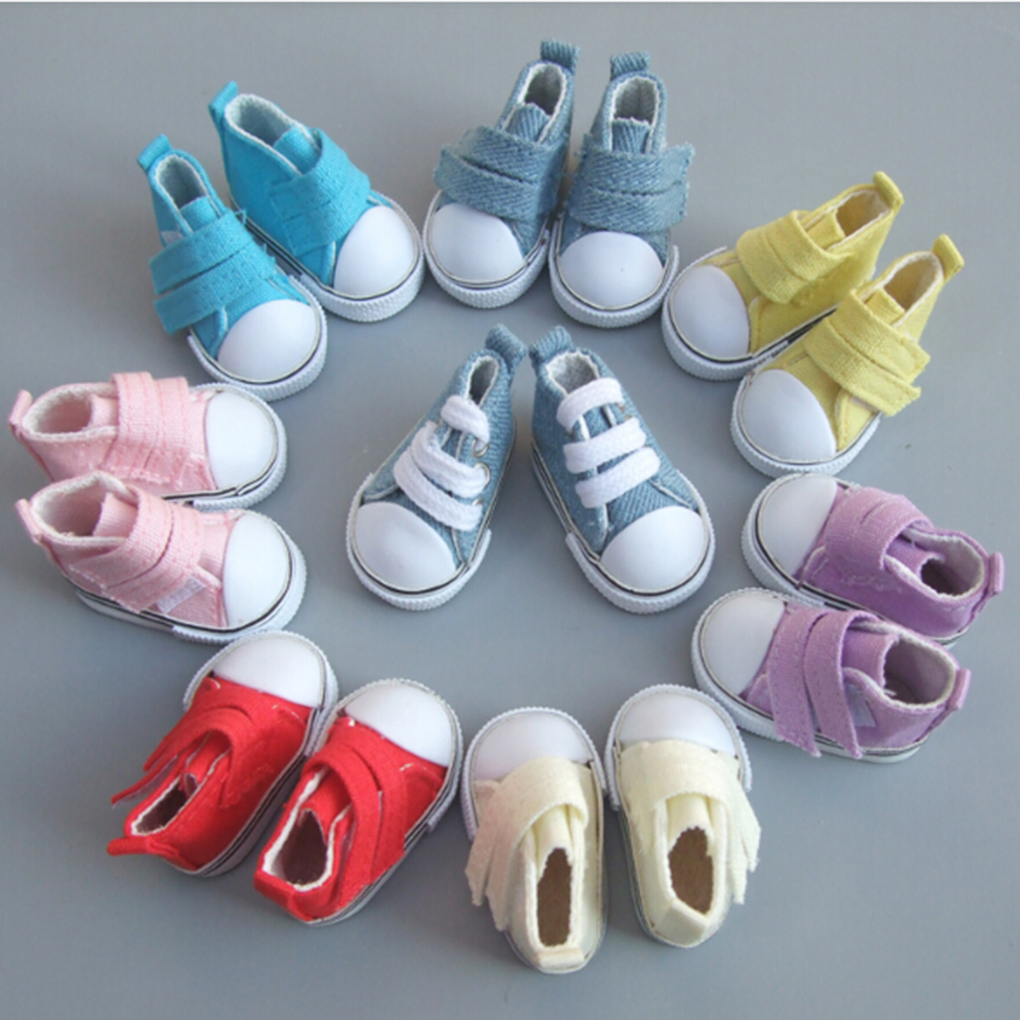5cm Canvas Shoes For Dolls Cool Fashion Mini Shoes Doll Shoes For DIY Handmade Doll Baby Doll Accessories Sneakers