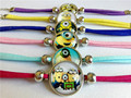 24pcs/lot Time gem bracelet Despicable Me Bracelets Leather bracelet Cartoon Movie Children, students, girls bracelet