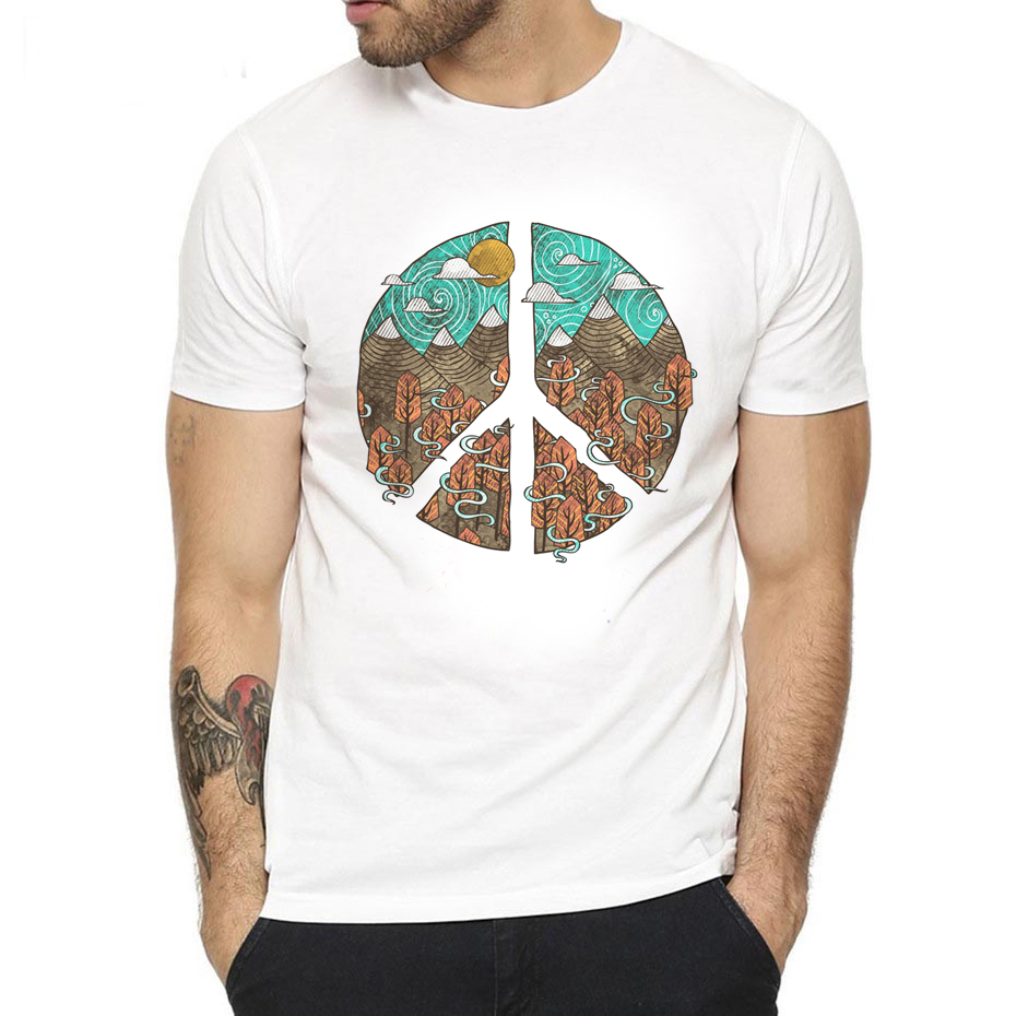 2019 men's t shirt Hippie music lover gift summer short sleeve tshirts for boys fashion design casual fitness T-shirt male tops