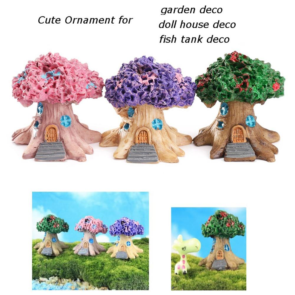 Mini Fairy Tree House Miniature Garden Micro Landscape Ornament Craft Decor