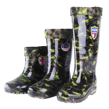 Rain boots male high rainboots waterproof shoes slip resistant water rubber shoes work shoes knee high