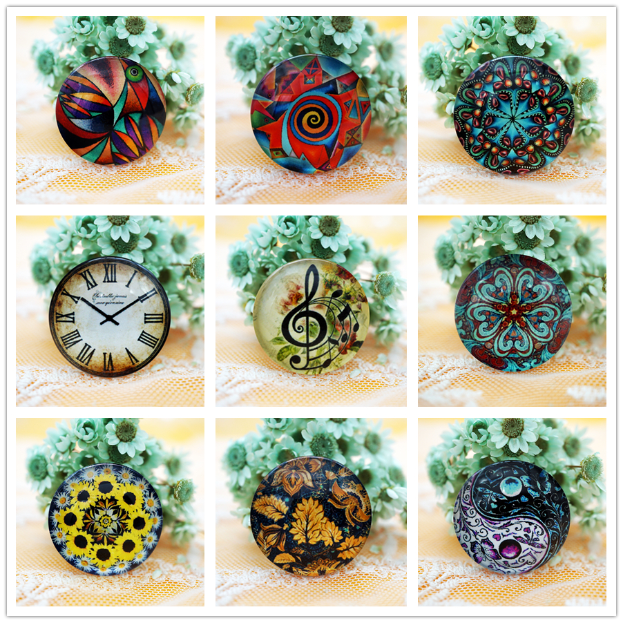 10PCS/lot Round 8-20mm Glass Cabochon For Make Bracelet Necklace Jewelry For Women Earring Pins Brooch Craft Supply
