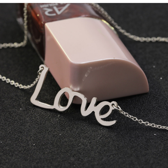 925 Solid Silver Customized Name Necklace Women Love Emotional Statement Necklace Personalized Christmas Valentine's day Gift