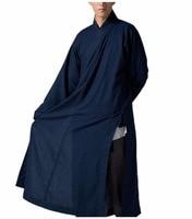 ZanYing традиционные для мужчин буддийский медитация костюм священника темно синий ZYS35