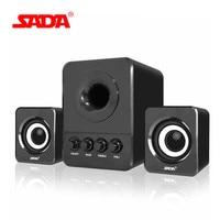 SADA D 203 Wired Combination Speaker Suitable For Laptop Desktop Computer Mobile Phone Notebook USB2 1