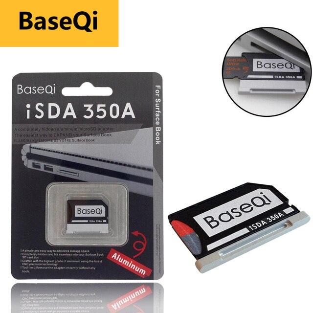 "Original BaseQi Aluminum MiniDrive Micro SD Card Adapter For Microsoft Surface Book / Surface Book 2 13.5"" micro sd reader"