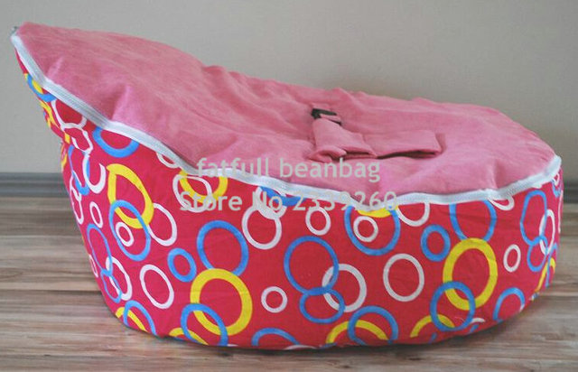 Amazing Us 25 0 Cover Only No Fillings Pink Circle Baby Bean Bag Child Sofa Chair Cover Soft Snuggle Bed With Harness Strap In Bean Bag Sofas From Theyellowbook Wood Chair Design Ideas Theyellowbookinfo
