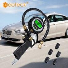 Цифровой шин давление датчик насос для колес 200 фунтов/кв. дюйм с 5 черный пластиковый клапан шапки для автомобиля Грузовик Мотоцикл циферблат метр