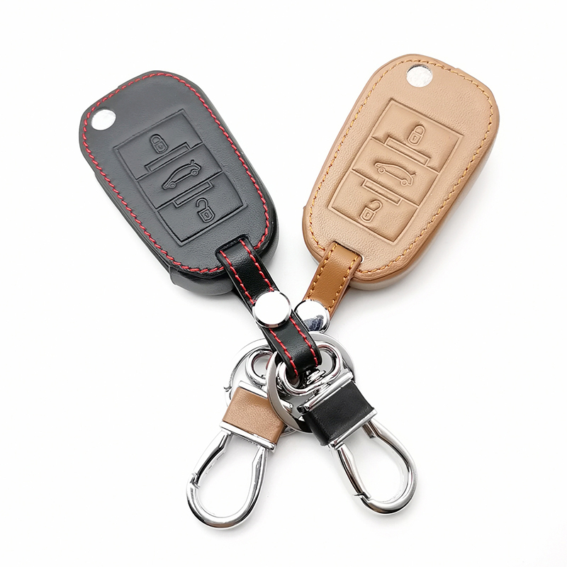 Top layer leather Genuine Leather car <font><b>key</b></font> case for Citroen C4 C5 C3 C6 C8 Xsara Picasso for <font><b>Peugeot</b></font> 3008 308 <font><b>508</b></font> 408 <font><b>key</b></font> <font><b>cover</b></font> image