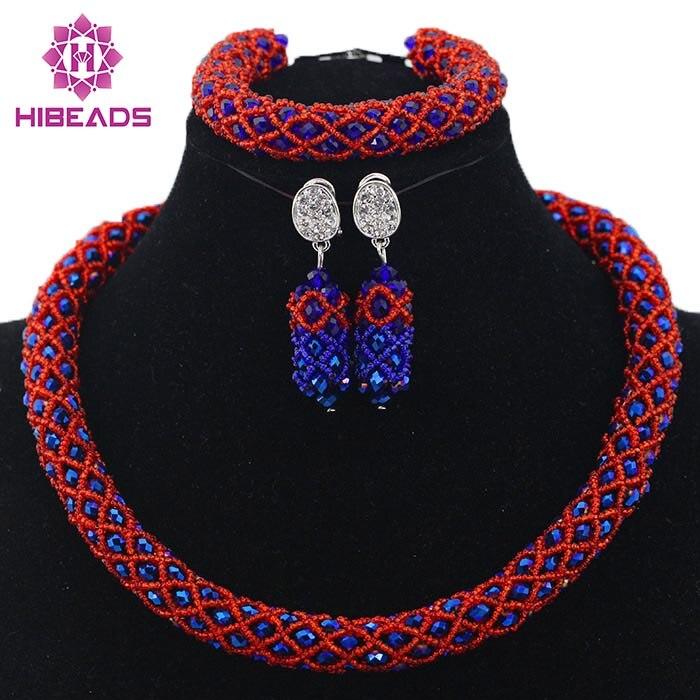 Online Shop Latest Design Lace Jewellery Nigerian Wedding ...