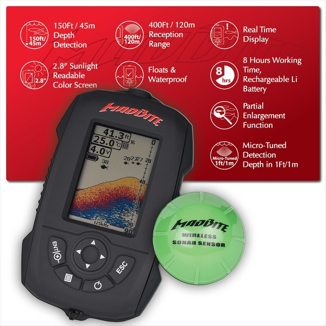 aliexpress : buy madbite waterproof portable fish finder 45m, Fish Finder