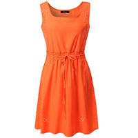 Women S Dress In The Summer Of 2017 The New Charge Tied With Pure Color With