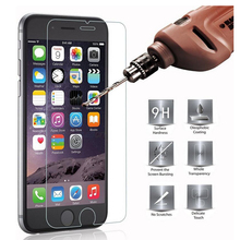 2.5D 9H Tempered Glass for iPhone 7 6 6S 5 5S SE 8 Plus X 4 4S 6Plus 7 Plus For iPod touch 5 6 Screen Protector Toughened film(China)