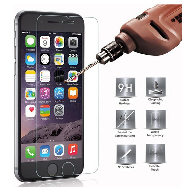 2.5D 9H Tempered Glass for iPhone 7 6 6S 5 5S SE 8 Plus X 4 4S 6Plus 7 Plus For iPod touch 5 6 Screen Protector Toughened film