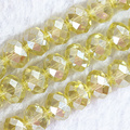Wholesale price 150pcs/strand 3*4mm multicolor AB crystal glass loose beads rondelle faceted abacus spacers jewelry finding B674