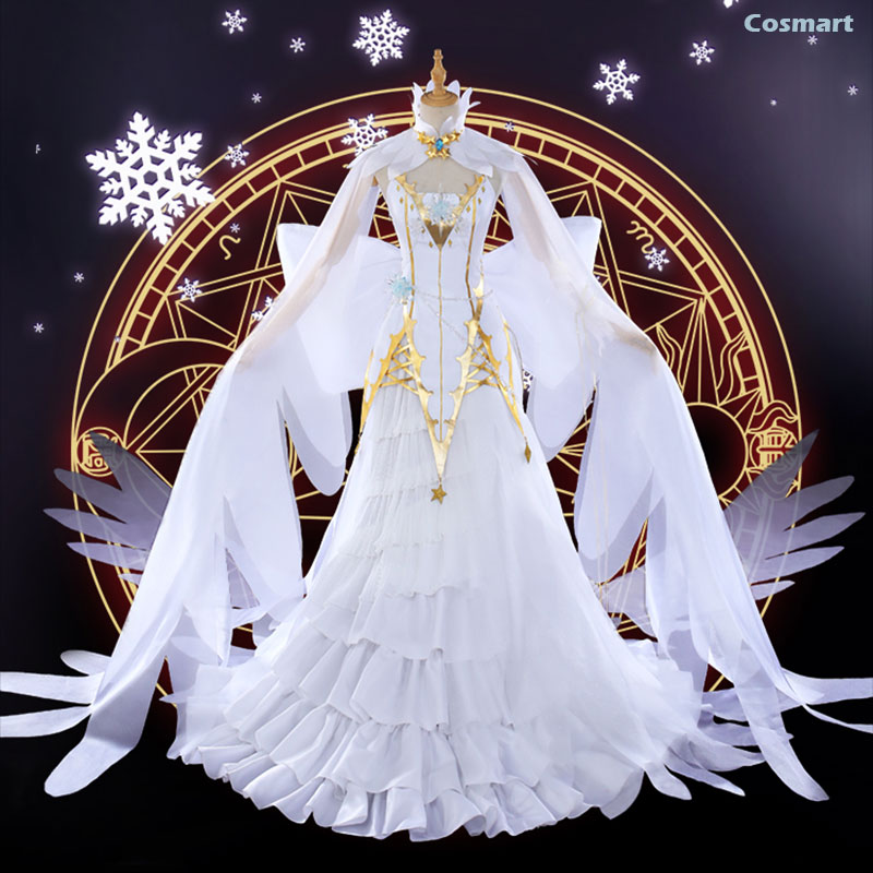 [Stock]Collection!2018 NEW Anime Card Captor Sakura New Daidouji Tomoyo Ice and Snow Angel Dress Uniform Cosplay costumes